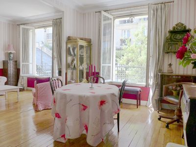 Photo for French tradition apt - Large apt for 5 - Perfect location - 2 mn fr Sacre Coeur