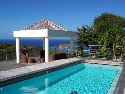 Charming cottage STEVE, beautiful sea view with swimming pool and garden.