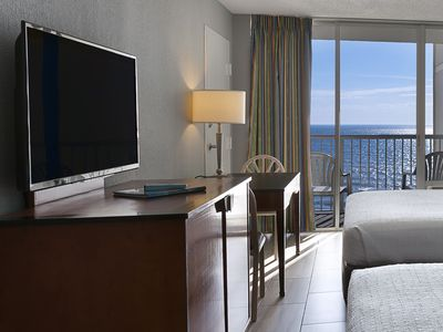 Photo for Oceanfront Efficiency w/ Private Balcony + Official On-Site Rental Privileges