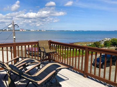 Photo for Cape Cod style Oceanfront cottage, decks,near Boston, train, airport,