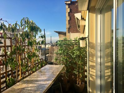 Photo for Bright Apartment & Panoramic views on the rooftops - Pereire / Wagram