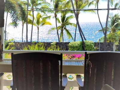 Photo for PRIVATE HOME, OCEANFRONT VIEW, GREAT LOCATION 4 MINUTE WALK TO KAHALUU BEACH