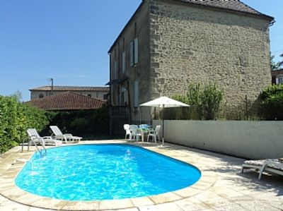 Photo for Large House With Garden, Private Pool In Typical French Village Setting