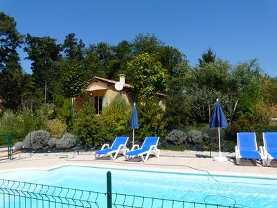Photo for Les Hauts du Coustalier, cottage Emeraude for 5 people with heated pool