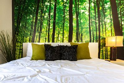 enjoy and relax to our soft bed topped with clean covers and pillows