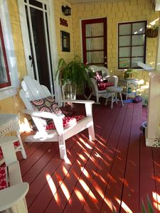 Front Porch withWicker Rocker...ahhh!