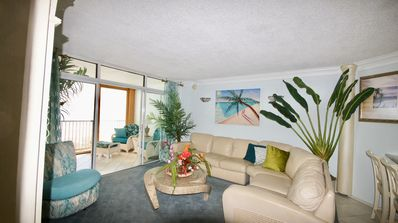 Photo for Fabulous Private  Ocean Front 2 bedroom/2 bath  Right on the beach with a pool