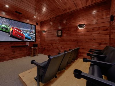 Photo for Luxury 3 Bedroom Gatlinburg Cabin with Home Theater Room and Sauna Room