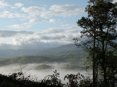 Photo for Luxury cabin with breath Taking View, minutes from Dollywood!