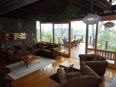 Lounge opens onto valley deck
