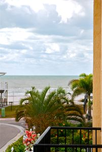 Enjoy the view of the Gulf from the Main House  front balcony