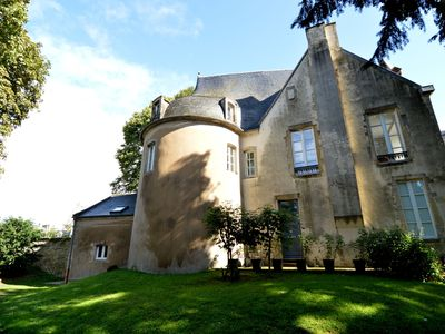 Photo for Unique castle-like lodging in the centre of Bayeux, private garden and parking!