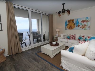 Photo for Indigo West 1602- Beach Front + Upscale Amenities! Apple TV and Wii Console!