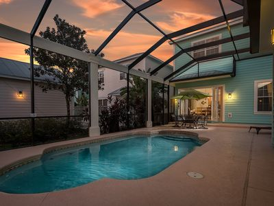 Photo for Paradise Villa | 4 Bed Home with West Facing Screened-In Private Pool