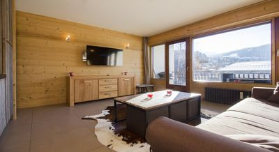 Photo for Mountain studio, great benefits, close to the village of Megève sleeps 4