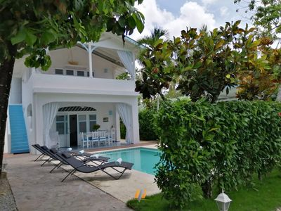 Photo for Dominican Villa  80m beach / private pool and garden /cap  8 persons / Free Wifi