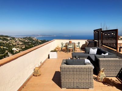 Photo for Begur Sunset ,2 bedroom loft close to the center of Begur. With terrace and gorgeous sea views