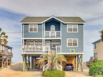 Photo for Four Suns Oceanfront 6BR South End Pawleys private creek dock