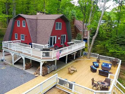 Photo for Lakefront Home w/Private Dock, Hot Tub, Wood Fireplace, & Corn Hole!