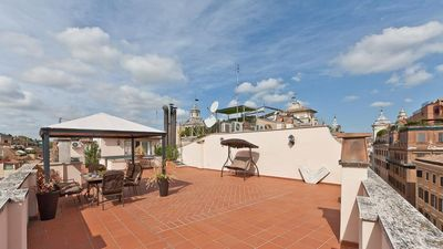 Photo for Luxury penthouse with a view over Villa Borghese