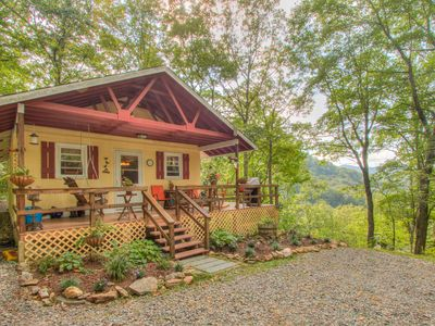 Photo for Cozy Mountain Hideaway Snuggled In Private Setting