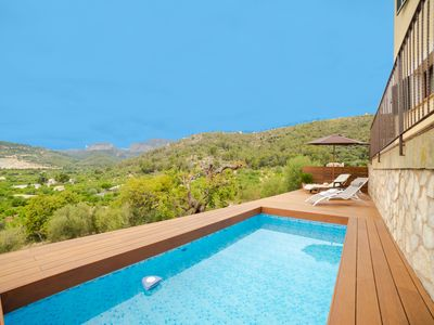 Photo for This 4-bedroom villa for up to 7 guests is located in Lloseta and has a private swimming pool, air-c