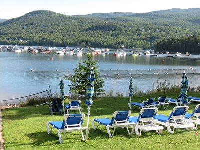 Photo for private Beach! View Lake tremblant ( Pinoteau)