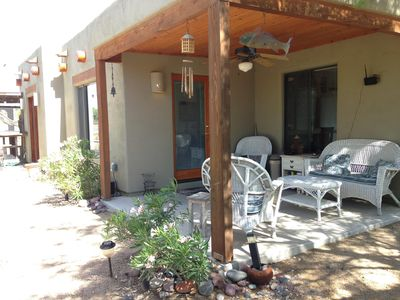 Front patio and entrance