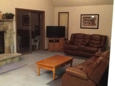 Living room has 42inch HD TV & Blue Ray Player