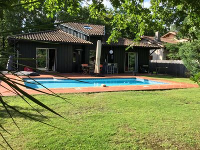 Photo for Bassin d'Arcachon, holiday villa with pool and enclosed garden