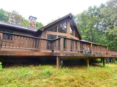 Photo for Beautiful custom built home offers peace and quiet in a beautiful setting.