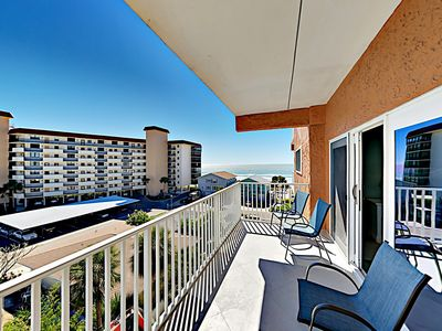Photo for COMPLETELY RENOVATED Gulf-View Condo w/ Pool - Walk to Beach, Shops &  Dining