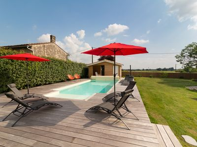 Photo for A Gite called La Grange, with  garden, BBQ area and swimming pool