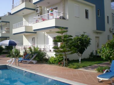 View of ground floor apartment with 2 balconies