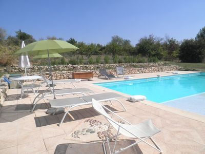 Photo for Luberon Park - House with private pool on plot of 10,000 m2 without screws
