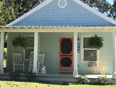 Photo for 15% DISCOUNT FOR SUMMER BOOKINGS!! DOWNTOWN COTTAGE; 2.5 BLOCKS TO BEACH