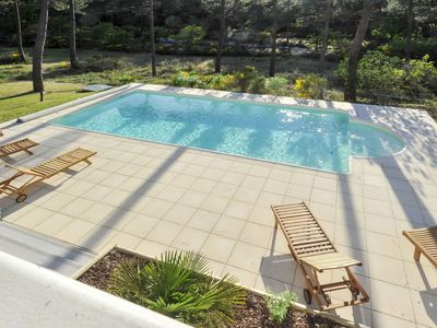 Photo for Beautiful apartment for 10 people with private pool, WIFI, TV, balcony, pets allowed and parking