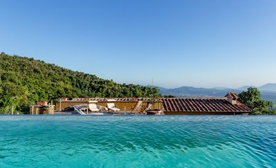 Photo for Stunning private villa with private pool, WIFI, TV, panoramic view and parking, close to La Spezia