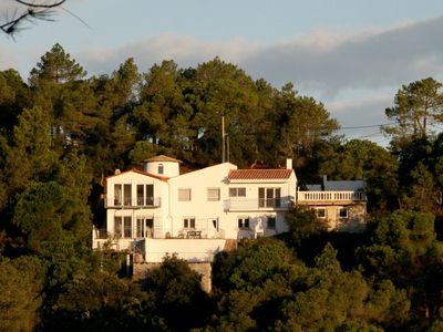 Photo for Villa, split into 2 apartments, on peaceful, wooded hillside, 2 Pools