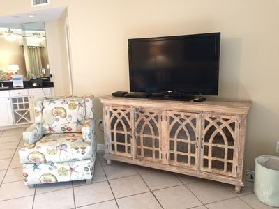 Living Room with 55 inch HD TV and DVD