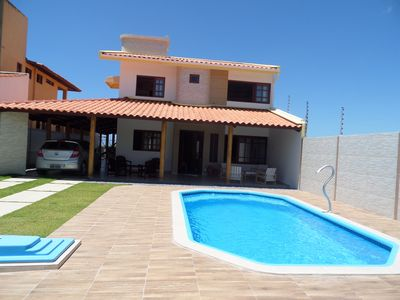 Photo for Excellent house with 6 bedrooms, pool and sea view 50m from the beach.