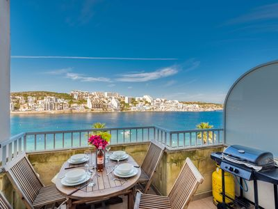 Photo for GetawaysMalta - Blue Harbour 3 Seafront Apartment in St. Paul's Bay