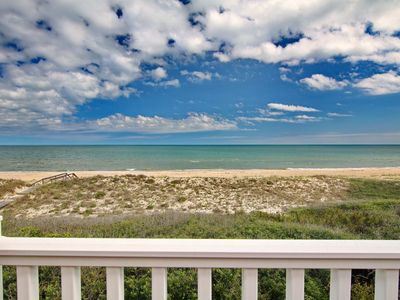 "Photo for Ready to rent now! FREE BEACH GEAR! Beachfront, Plantation, Pool, Screened Porch, Fireplace, 4BR/3.5BA ""Orchid By The Sea"""