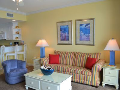 Photo for Colorful, Coastal Retreat Right on the Beach