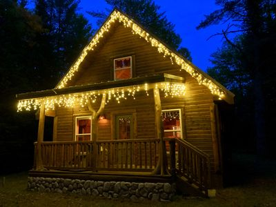 Photo for Cozy, Secluded, Year-Round Cabin Rental With A Hot Tub!