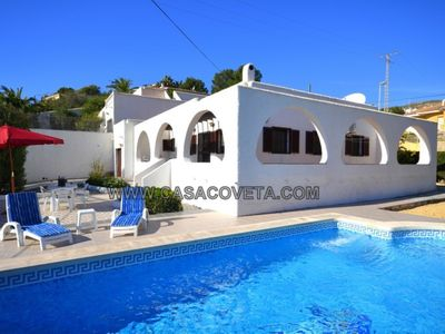 Photo for Great Villa for 6 Persons, A/A all rooms, Private Pool, Free Internet, Sea View