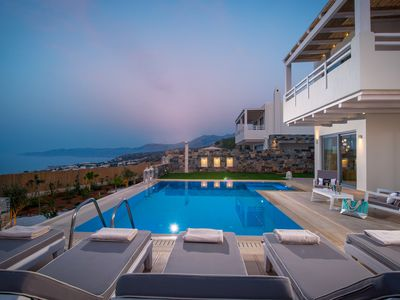 Photo for Villa Greece - Panoramic Seaview Villa with private heatable Pool, 3 bedrooms