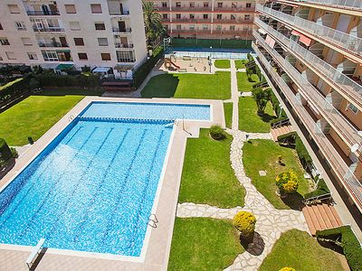 Photo for Malgrat de Mar Apartment, Sleeps 4 with Pool, Air Con and WiFi