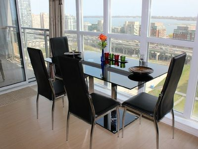 Photo for 18th Floor-2BR2BA, CN Tower/Downtown/Lakeshore, Amazing View ,Free Parking/WiFi