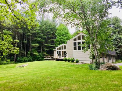 Photo for Rustic modern house in Great Barrington near town, lake, Tanglewood and ski!